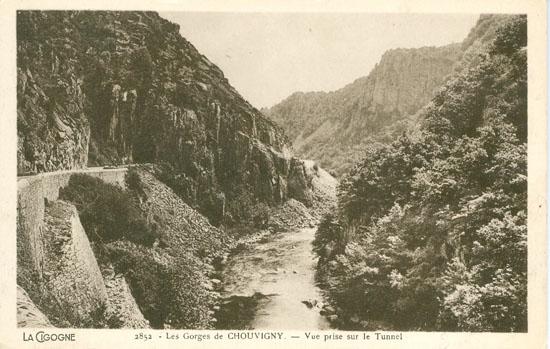 Old postcards allier Chouvigny