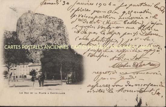 Cartes Postales Anciennes 04 alpes de haute provence Castellane