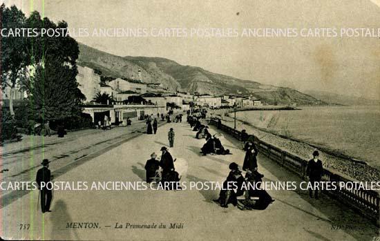 Cartes Postales Anciennes France 06 alpes maritimes Menton