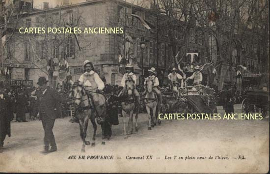 Cartes Postales Anciennes France Bouches du rhône Aix En Provence