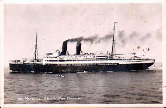 Old postcards boats Old postcards merchant navy Marseille 1er