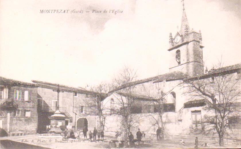 Old Postcards Gard Montpezat