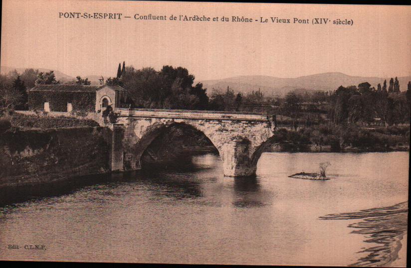 Old postcards pont saint esprit france Pont St Esprit