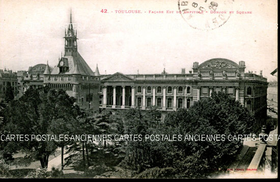Old postcards toulouse france