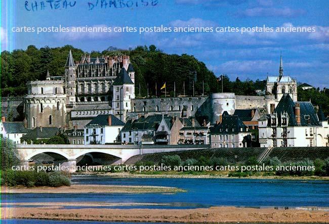 Old postcards monuments Château Amboise Amboise