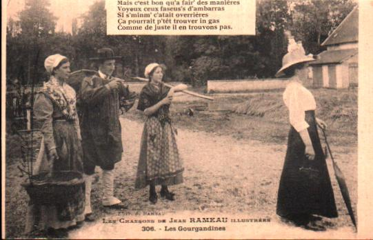 Old postcards tradition Tradition of aquitaine Mimizan