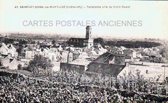 Cartes Postales Anciennes Loire atlantique  St Etienne De Montluc