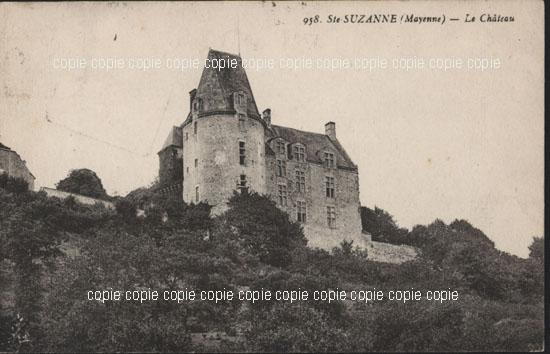 Old postcards sainte suzanne france Ste Suzanne