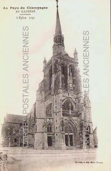 Cartes Postales Anciennes France Marne  Ay