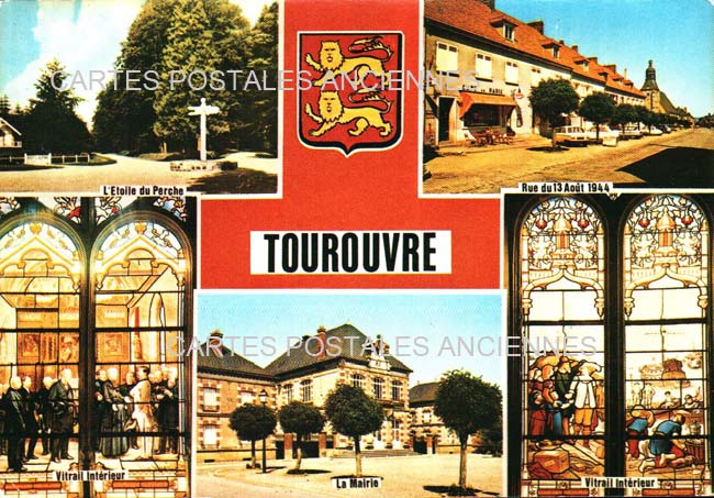 Old postcards tourouvre france Tourouvre