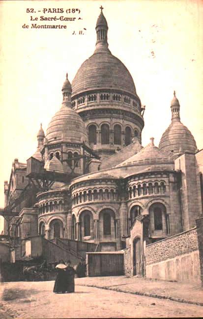 Old postcards paris france Paris 18eme