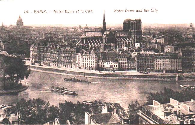 Old postcards paris france Paris 4eme