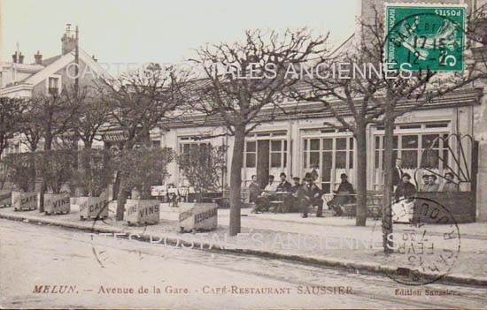 Old postcards melun france Melun