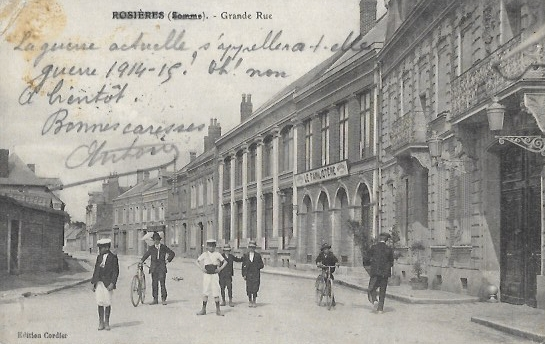 Cartes Postales Anciennes Somme Rosieres En Santerre