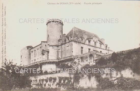 Cartes Postales Anciennes Lot et garonne  Duras