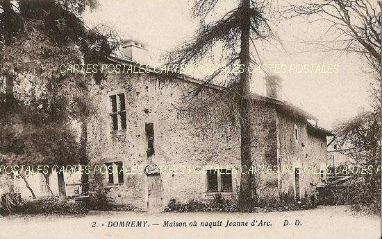 Cartes Postales Anciennes France Vosges  Domremy La Pucelle