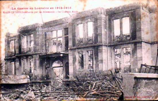 Cartes Postales Anciennes Vosges  Raon L Etape