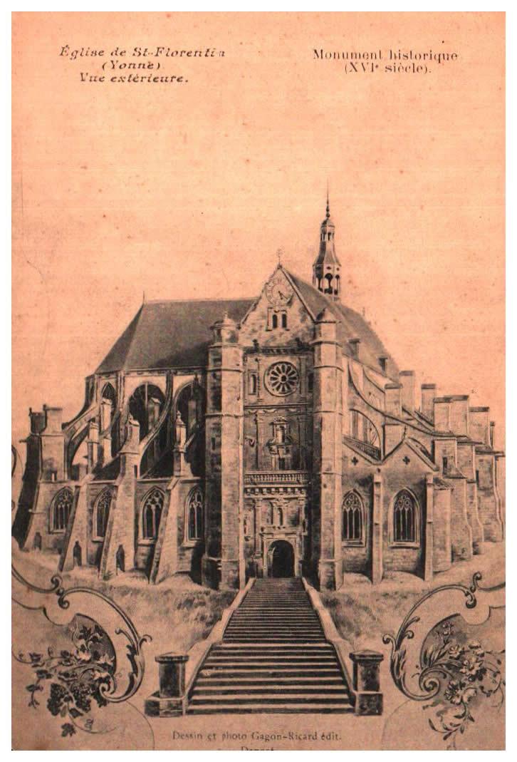 Old postcards fantasy Illustrator Iilustrateur religieux St Florentin