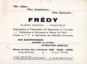 Oldold postcards artist presenter singer comedien Cirque clown
