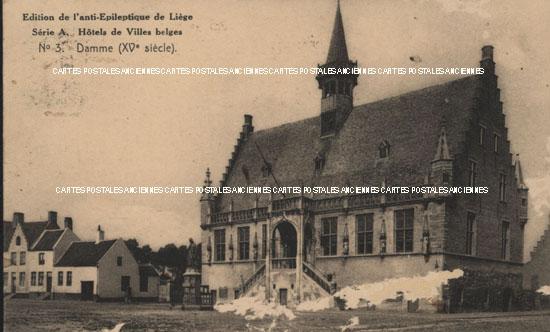 Old european union postcards Belgium