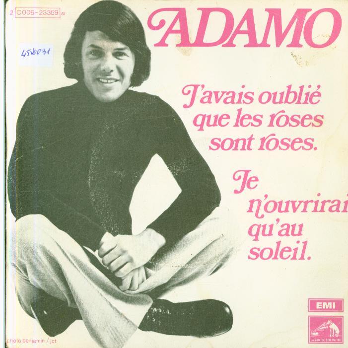 Autres collections Music vinyl record 45 tours Adamo disques