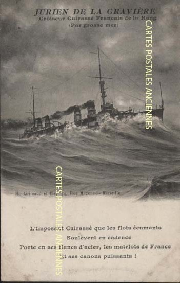 Cartes postales anciennes bâteau mer