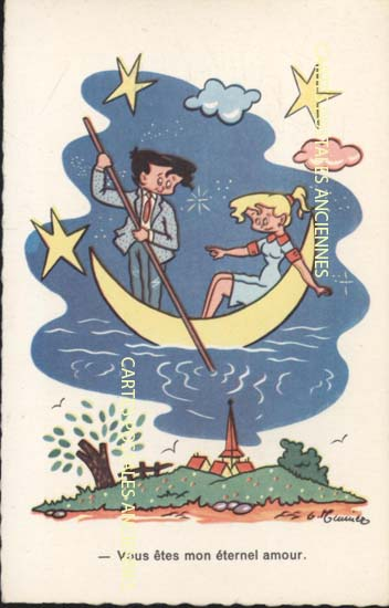 Old postcards humor