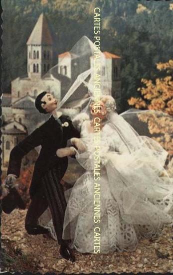 Cartes Postales Anciennes  humour Les mariés