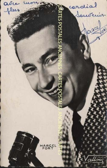 Oldold postcards artist presenter singer comedien Variety artist Anchorman