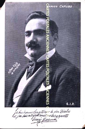 Cartes Postales Anciennes France Artiste présentateur chanteur Chanteur Opéra
