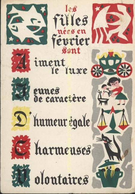 Cartes postales anciennes fantaisie Horoscope