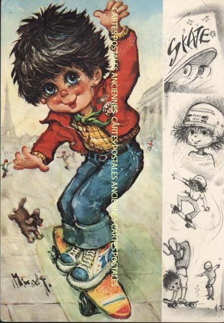Old postcards fantasy Illustrator Iilustrateur enfants