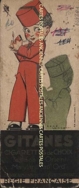 Postcards advertising Fumer cigarettes etc