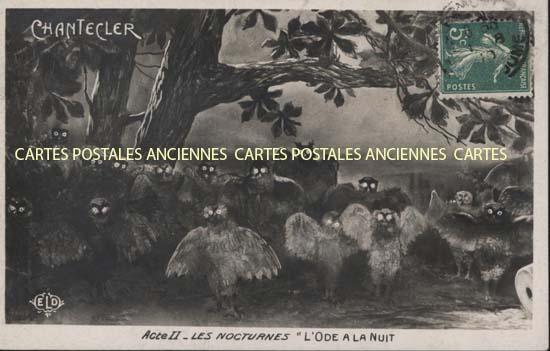 Old postcards fantasy Illustrator Chantecler