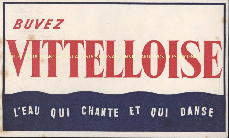 Collection advertising blotters Eaux vin