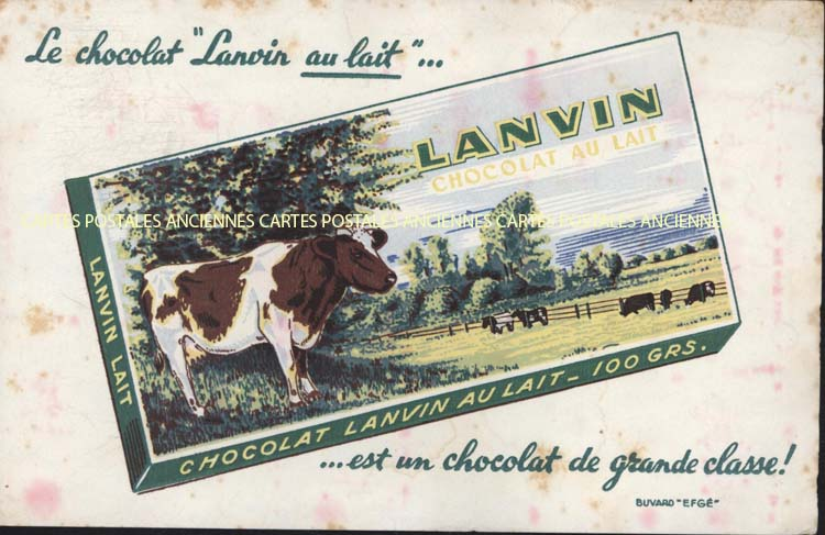 Collection advertising blotters Chocolat