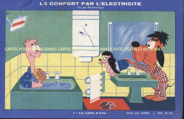 Cartes Postales Anciennes Buvard Buvard electricité