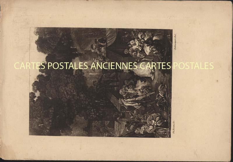 Old postcards fantasy Illustrator Iilustrateur menu
