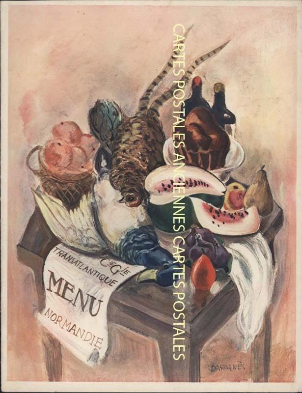 Postcards advertising Menu