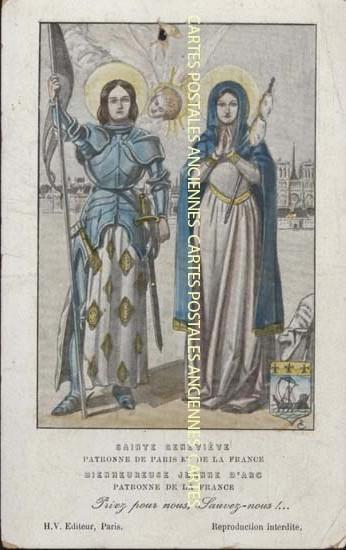 Cartes Postales Anciennes  religion Sainte geneviève