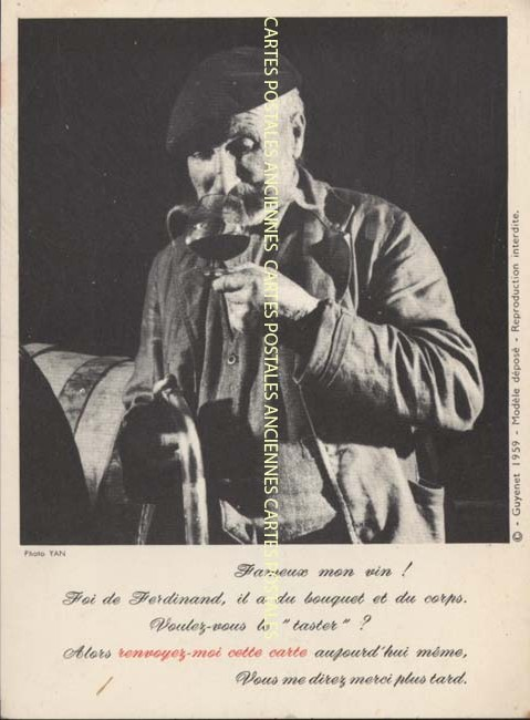 Cartes postales anciennes publicitaires   pub Boisson