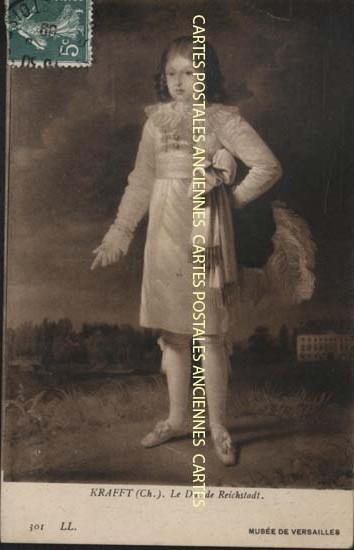 Old postcards painting, sculpture  portrait enfant Versailles