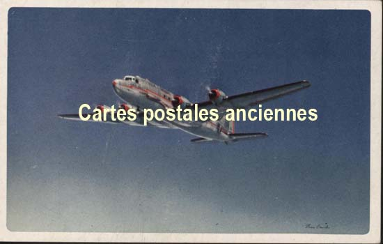 Old postcards aviation, aircraft American airlines