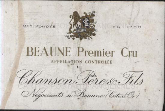 Cartes Postales Anciennes Publicité Etiquette vin