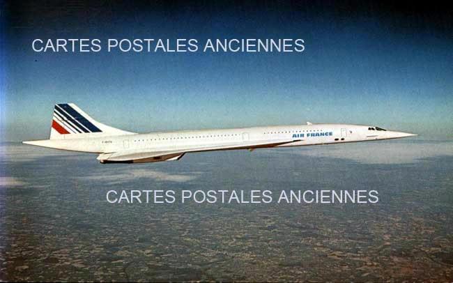 Old postcards aviation, aircraft Avion air france