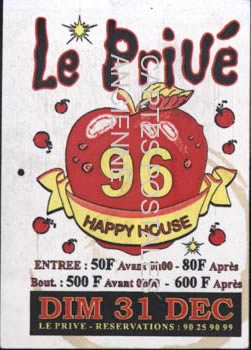 Postcards advertising Club boite de nuit
