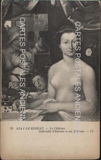 Cartes Postales Anciennes  Azay Le Rideau