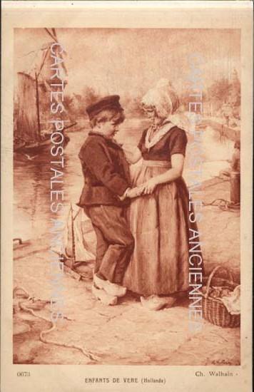 Old postcards painting, sculpture  tableau dessin