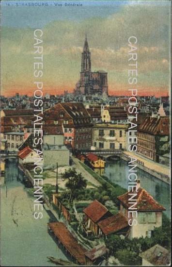 Cartes Postales Anciennes France Bas rhin  Strasbourg