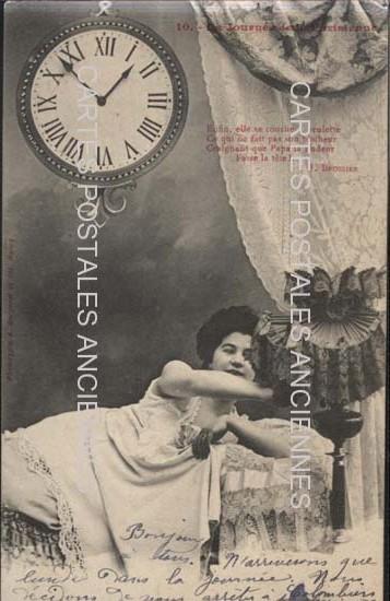 Old postcards fantasy personages Journée parisienne